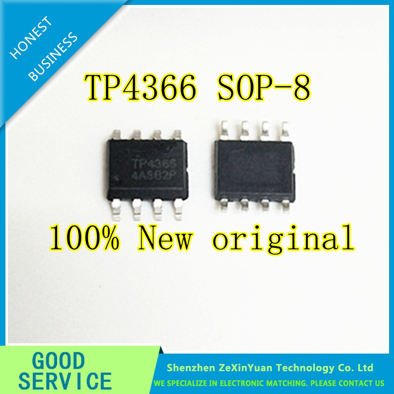 10PCS/LOT TP4366 4366 SOP-8 Is Filled With 1A Four Lamp To Display Mobile Power IC