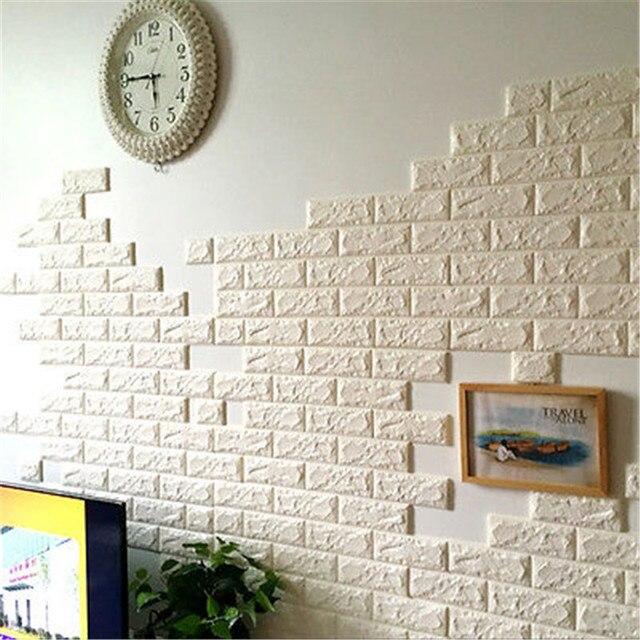 60x60 Cm Stein Ziegel Muster 3d Weiß Strukturierte Pe Schaum Tapete
