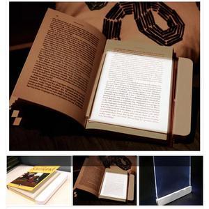 Светодиодный книжный светильник на танкетке, лампа для чтения, переносная лампа с плоской панелью, светильник с защитой глаз, мягкий ночной ...