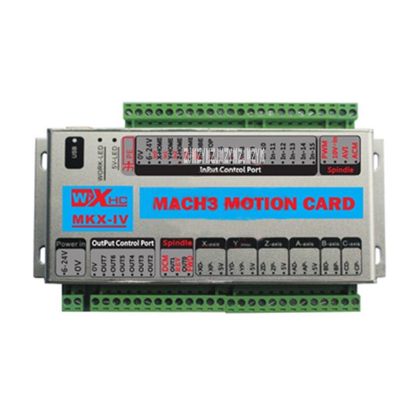 Nouveauté MACH3 contrôleur quatre axes XHC CNC Mach3 USB 4 axes carte de contrôle de mouvement carte de rupture 24 V 2000 KHz Support Windows