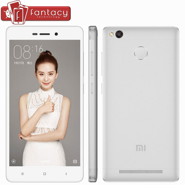 """Оригинал Xiaomi Redmi 3X2 ГБ RAM 32 ГБ ROM Snapdragon 430 Octa Core FDD LTE 4 Г 13.0MP Отпечатков Пальцев ID 5.0 """"1280x720 P Мобильных Телефонов"""