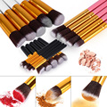 10pcs/set High Quality Makeup Brushes Beauty Cosmetics Foundation Blending Blush Make up Brush tool Kit Set