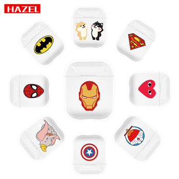 HAZEL Marvel AvengersCartoon Wireless Earphone Charging Cover Bag for Apple AirPod1 2 lovely Mickey Minnie Bluetooth Headset Box marvel glass iphone case