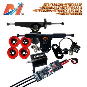 Maytech patins 4 rodas 6374 170KV motor y monopatín eléctrico doble potenciado de 2000w, monopatín SuperESc basado en vesc y rueda con rodamiento