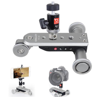 Electric Autodolly Video Car Motorized DSLR Dolly Track Slider Skater With Tripod Ball Head For Youtube