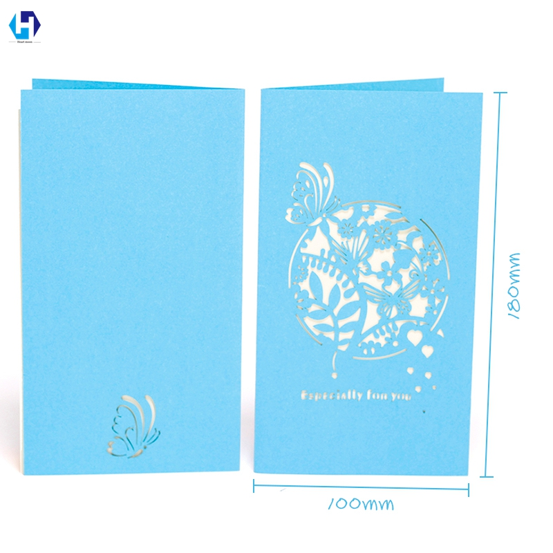 Wedding Invitation Cards Romantic Secret Garden Card Laser Cut Postcard Blue Pink Violet Color 10 pcs/lot Wholesale
