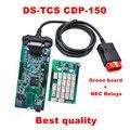 DS 150E cdp TCS CDP Keygen en CD Doble Verde PCB Relés de NEC DS 150E Nueva VCI TCS coches camiones TCS CDP herramienta de diagnóstico DS 150E