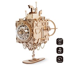 Robotime Creative DIY 3D Steampunk Submarine Wooden Puzzle Game Assembly Music Box Toy Gift for Children Teens Adult AM680(China)