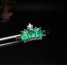 купить SHILOVEM 925 sterling silver Natural Emerald rings classic fine Jewelry women wedding women plant  wholesale cj030402agml по цене 4486.24 рублей