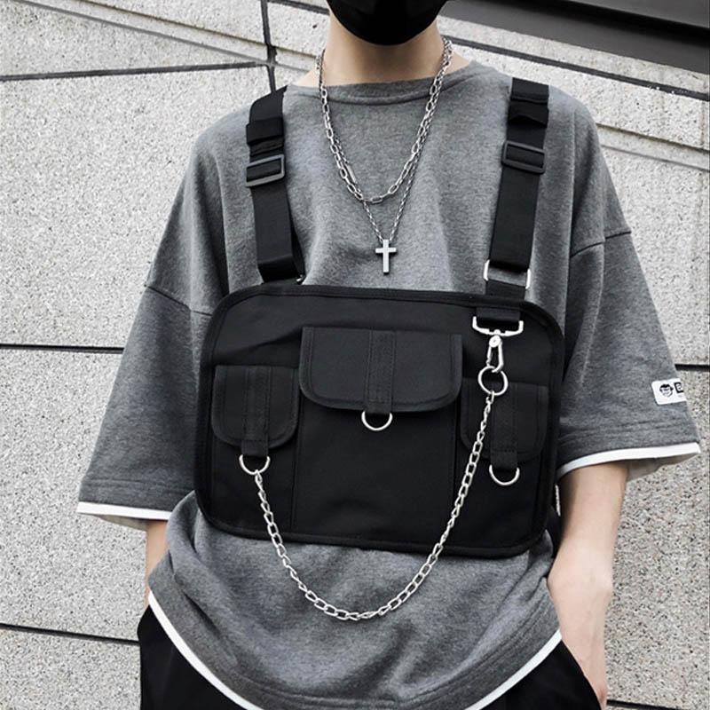 Chest Bag For Men Hip Hop Harness Chest Rig Bag Vest Streewear Women Tactical Shoulder Bag Chest Package Kanye West Waist Pack