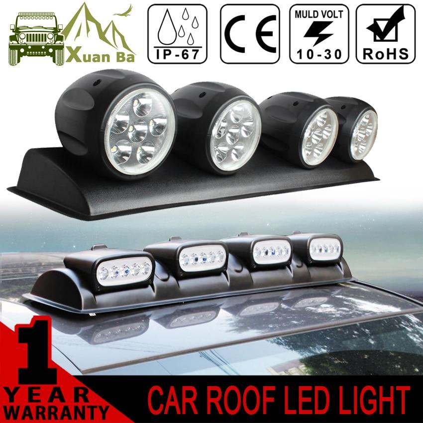 xuanba 100w led light bar drl 12v car discovery roof lights suv dome light 4x4 offroad roof fog. Black Bedroom Furniture Sets. Home Design Ideas
