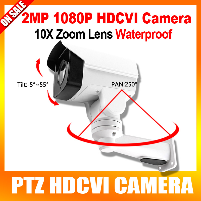 Rotary HD 1080P Bullet PTZ CVI Camera 2MP 10X Optical Zoom Motorized LensWaterproof ,Night vision 80m,Pan/Tilt Rotation Coaxial ccdcam 4in1 ahd cvi tvi cvbs 2mp bullet cctv ptz camera 1080p 4x 10x optical zoom outdoor weatherproof night vision ir 30m