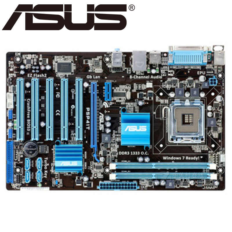 Asus P5P41T Desktop Motherboard P41 Sockel LGA 775 Q8200 Q8300 DDR3 8G ATX UEFI BIOS Original Verwendet Mainboard Auf verkauf
