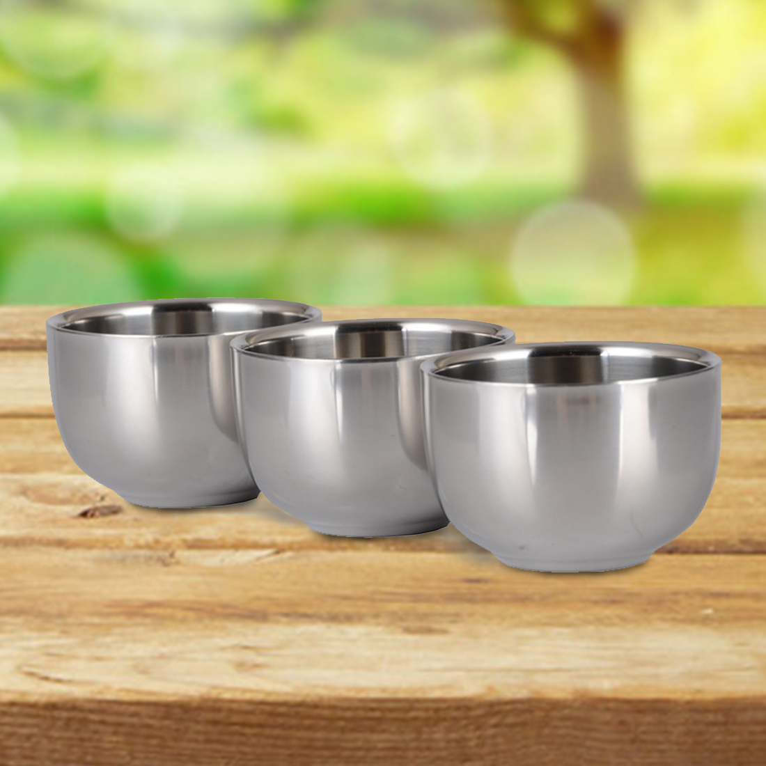 New 7.2cm Stainless Steel Nonmagnetic Cup Smooth surface Home and garden kitchen tool Kitchen accessary two layer Cup