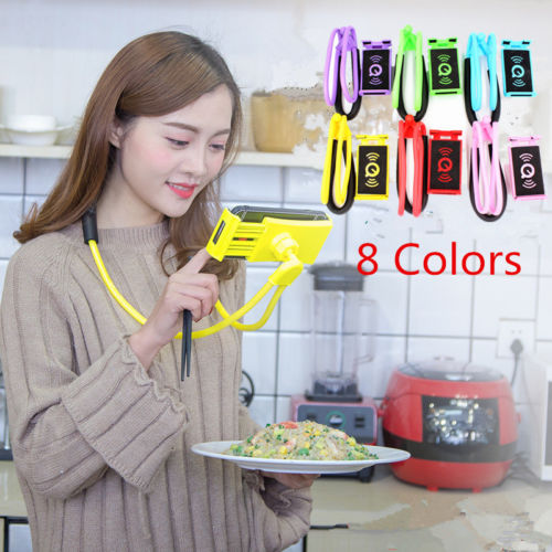 Funny Flexible Lazy Bracket Mobile Phone Neck Hanging Stand Holder For Phone