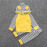 New Spring Children S Casual Suit T Shirts And Pants Fashion Baby Girls Clothing Set