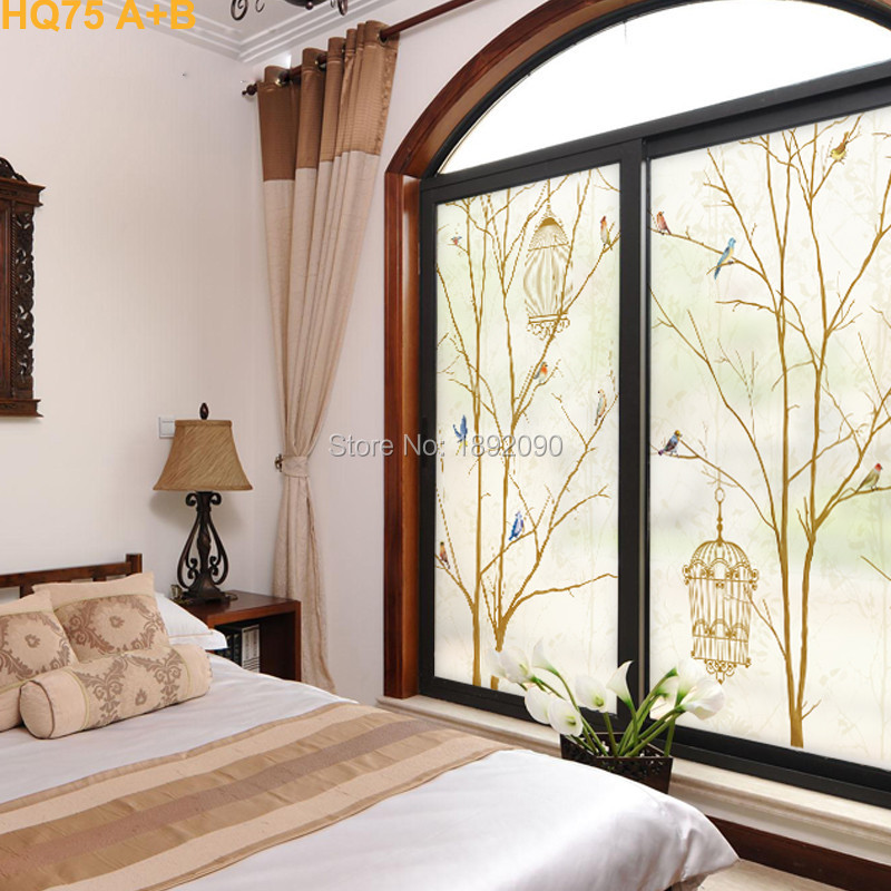 Free Size 5060cm Decorative Window Film Sliding Glass Door Window
