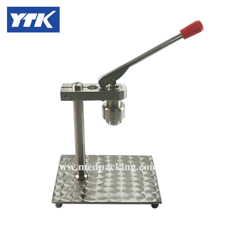 YTK Desktop Capping Machine for Flip Off Cap or Tear Off Cap grind