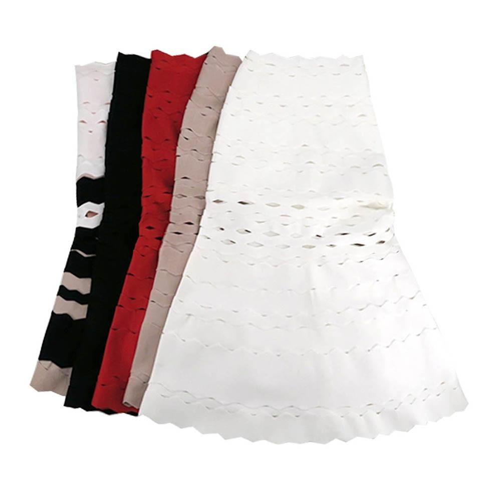 أزياء المرأة الأحمر الأسود الأبيض البيج 2019 جديد وصول خط الجاكار الركبة طول المشاهير حزب ضمادة تنورة-في تنورة من ملابس نسائية على  مجموعة 3