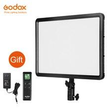 Godox ledp260c 3300 ~ 5500 k led 바이 컬러 및 디 밍이 가능한 스튜디오 비디오 라이트 램프 패널 카메라 dv 캠코더 + 무료 ac 어댑터