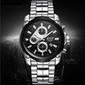 BOSCK-3106, luxuoso relógio dos homens de lazer, high-end relógios de quartzo, relógios de calendário de moda à prova d' água, relógio marca de negócios