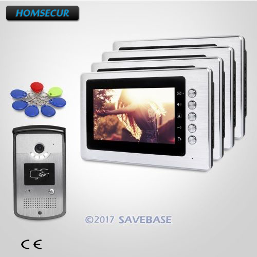 HOMSECUR 7inch Video Door Intercom System with Mute Mode for Home Security for Apartment