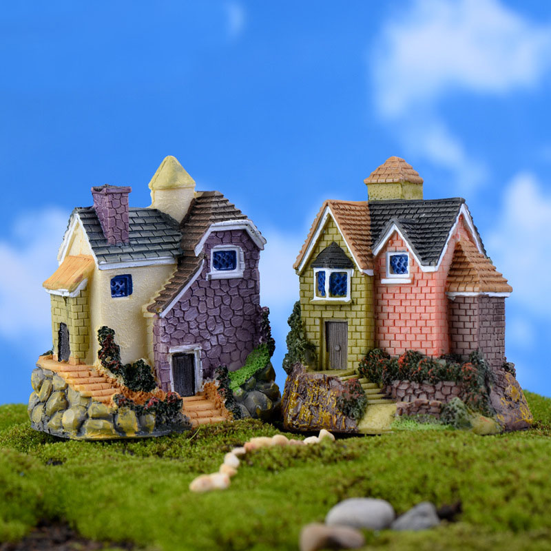 Fairy Garden Home Houses Decoration Mini Craft Micro Landscaping Russian Style Villa Fairy Tale Micro World Accessories