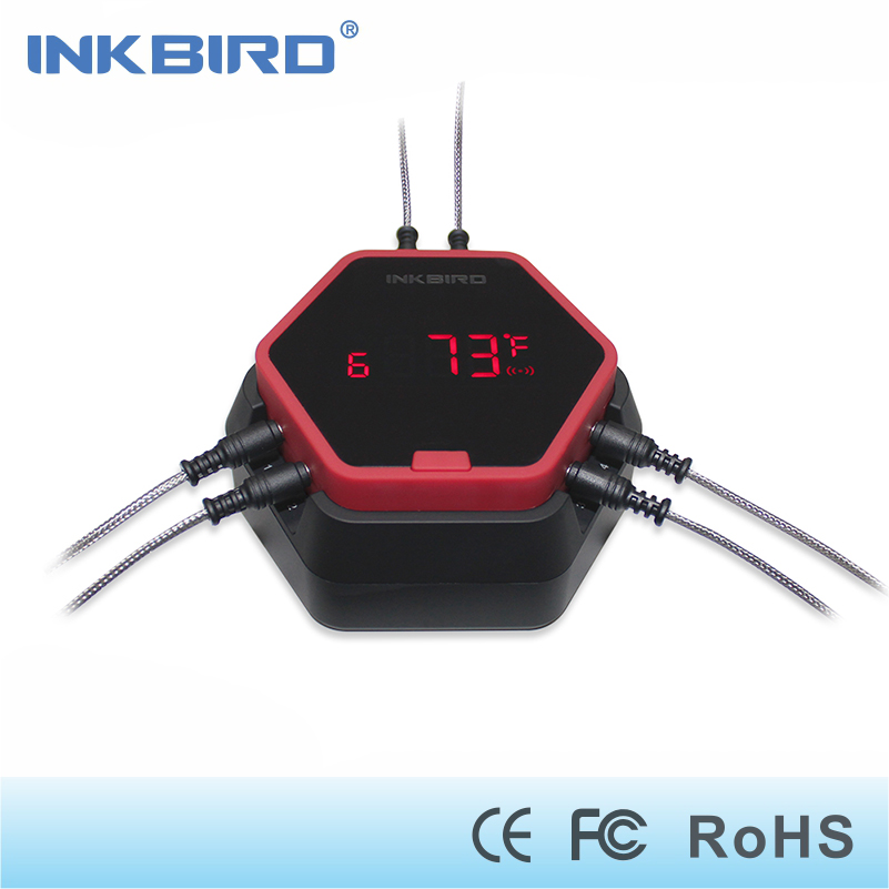 Inkbird IBT-6X Digital Food Cooking Bluetooth Wireless BBQ Thermometer With Six Probe For Oven Meat Grill Smoking BBQ Free APP digital kitchen probe thermometer food cooking bbq meat steak turkey wine