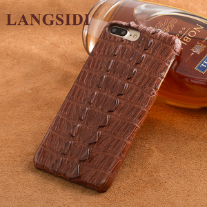 Image 3 - Wangcangli phone case Crocodile texture back cover For iphone X Case cell phone cover full manual custom processing
