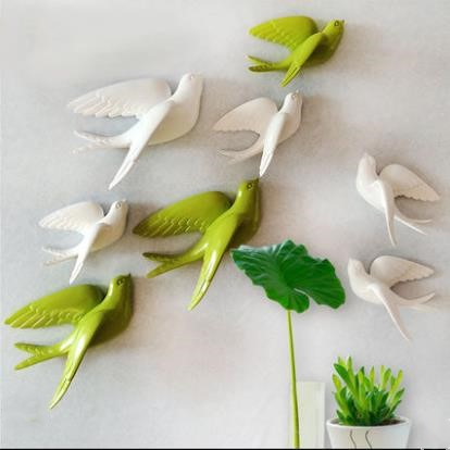 2019 American Style Swallow Wall Hanging Crafts, Creative Bird Pendant, TV Background Wall Decorations, Wall Stickers