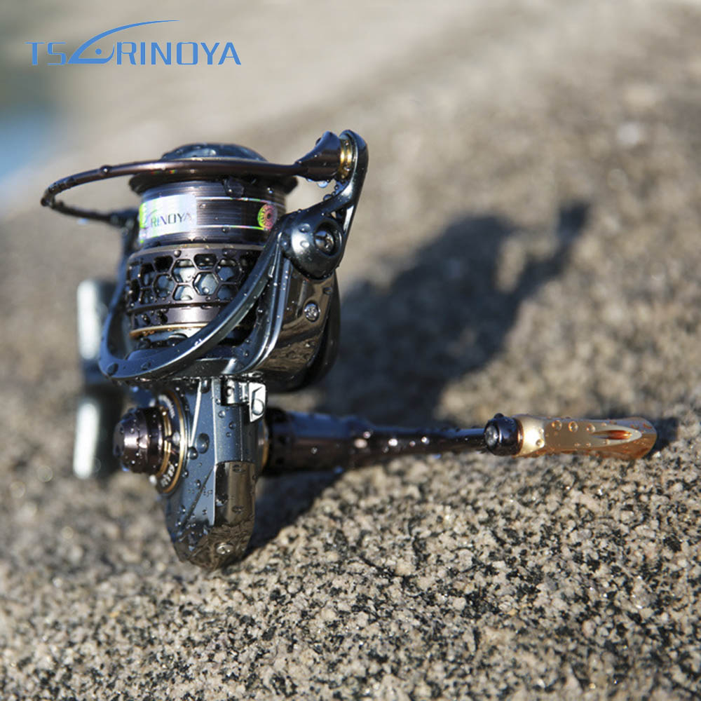 TSURINOYA JAGUAR 2000 3000 Spinning Fishing Reel 9+1BB 5.2:1 Metal Spool Lure Fishing Reel Moulinet Peche Carretes De Pescar new tsurinoya spinning fishing reel 10 ball bearings 5 2 1 ratio lightweight reel moulinet free shipping reel 175g weight fs800