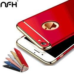 Étui de protection arrière étuis pour iphone X 5 s 6 s étui pour iphone de luxe 5 s 6 6 s 7 8 plus étui de protection rigide 3 en 1