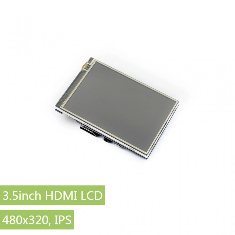Waveshare 3.5inch HDMI LCD Monitor Resistive Touch Screen 480x320 Resolution HDMI Interface IPS Screen Designed for Raspberry Pi 3 5 inch touch screen tft lcd 320 480 designed for raspberry pi rpi 2