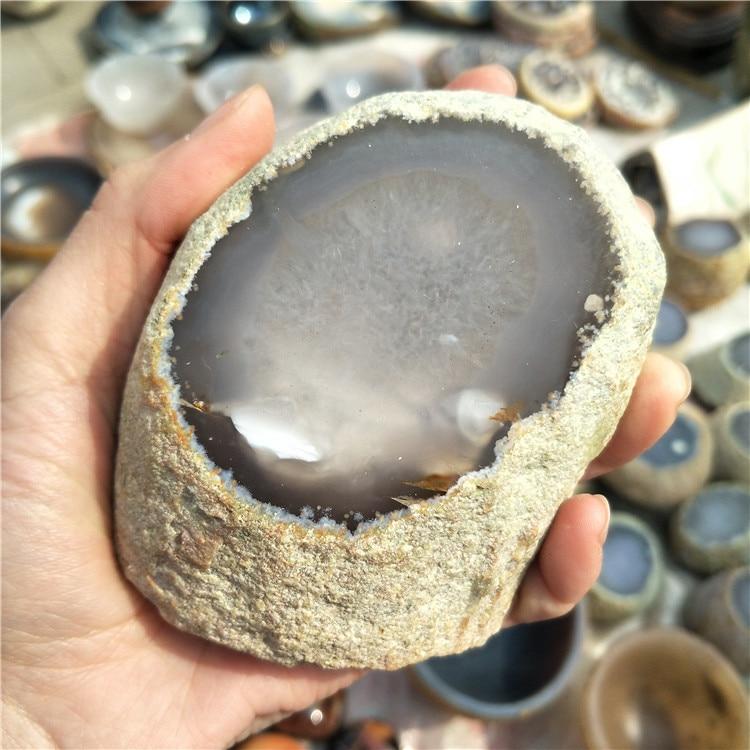 Натуральный грубый Агат внутри фэншуй кристалл натуральный целебный кристалл агат с водой внутри