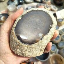 Природная грубая Агатовая вода внутри фэн-шуй Кристалл, натуральный лечебный кристалл, агат с водой внутри