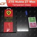 Zte nubia z7 max 100% de alta calidad de cristal templado película del protector de pantalla de accesorios para el teléfono celular + envío libre
