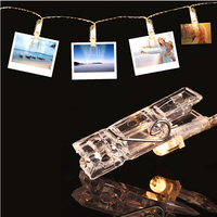 5M Mini 20 Leds Card Photo Clip String Lights Battery Christmas Lights New Year Party Wedding