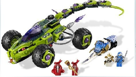 Puzzle toy series phantom Ninja ambush snake fangs Python truck car 9760 fangs for nothing