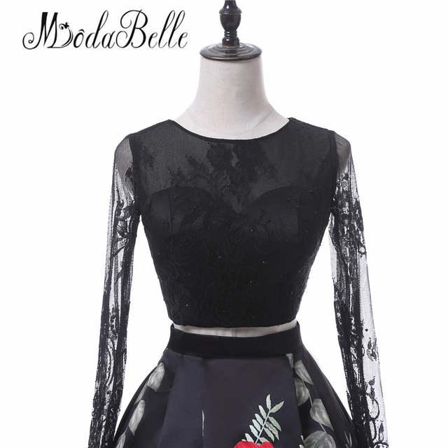 Online Shop Modabelle 2017 Floral Lace Short Two Piece Prom Dresses