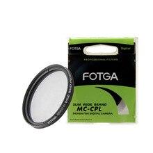 все цены на FOTGA MC-CPL filter Circular Polarizer Camera filter for Canon Nikon DSLR Camera lens 37mm/43/46/49/52/55/58/62/67/72/77/82mm онлайн