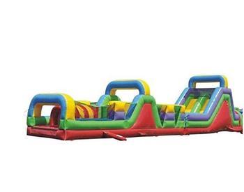 Curso de obstáculos inflables Mega Retro