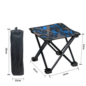 Image 5 - Folding Chair Camping Equipment Ultralight Fishing Stool Portable Mountaineering Hike Chair Outdoor Mini Barbecue Beach Chair
