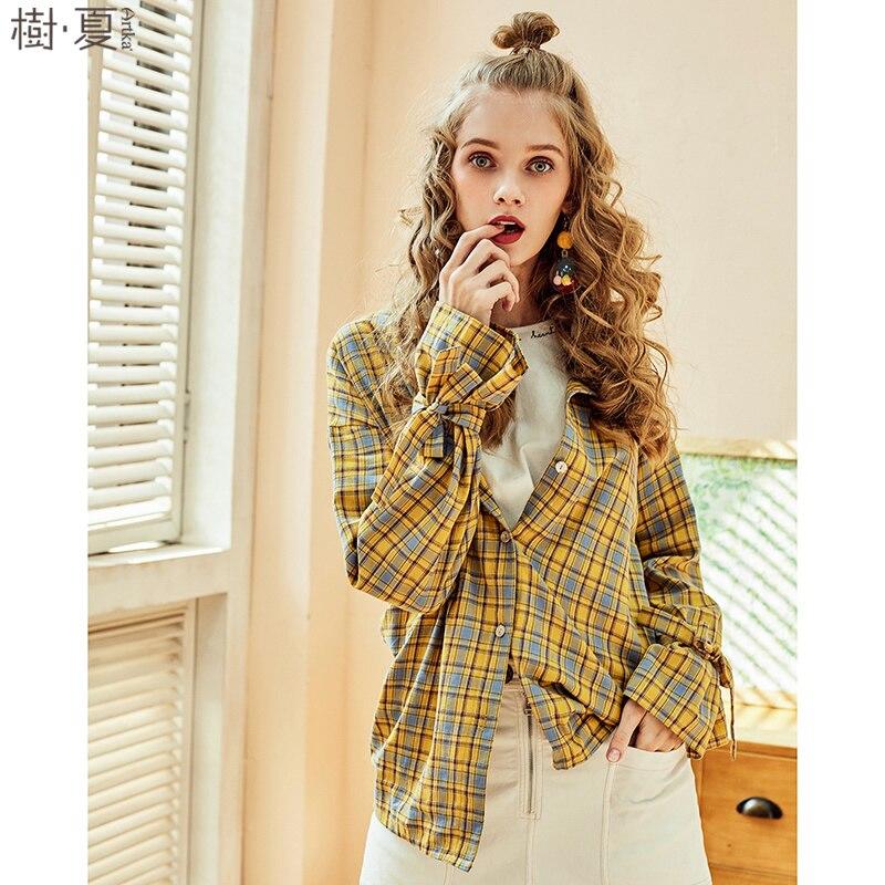 ARTKA 2018 été femme nouveau pur coton arc complet Flare manches chemise Preppy BF Style lâche Plaid Blouse mince manteau SA10380C