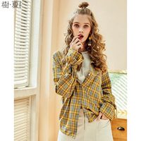 Artka 2018 Summer Female New Pure Cotton Full Bow Flare Sleeve Shirt Preppy BF Style Loose
