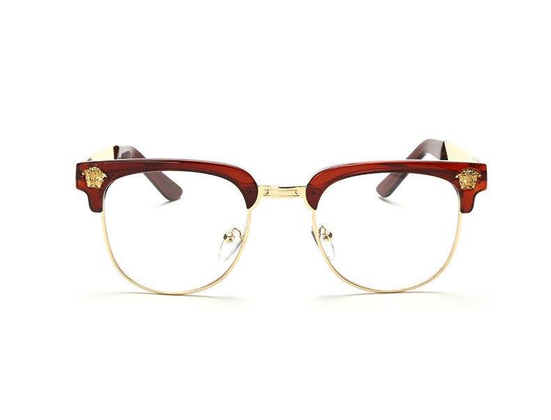 New Brand Designer Eyeglasses Frame Vintage Eye Glasses Clear Lens Reading Eyewear Square Frame Optical Glass