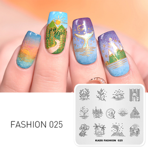 New Arrival Nail Stamping Plate Sun&Moon Light Dream Lifestyle Stamping Printer Plates Stencil for Nails Nail Art Design 3D Mold(China)