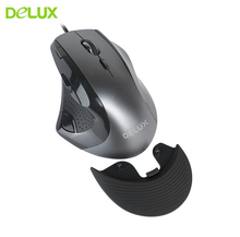 Delux M910BU Gaming Vertical Mouse Ergonomic Optical Usb Computer Gamer Mause 9 Button 4000 DPI Wired 3D Wheel Game Mice For PC delux m625 wired gaming mouse gamer ergonomic rgb 7d colorful led backlight mice usb optical computer mause 24000 dpi adjustable