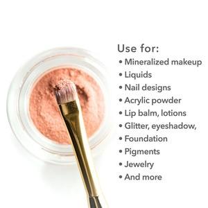 Image 2 - Contenedor de muestra vacía de cosméticos botella miniatura pequeña para sombra de ojos, polvo de uñas, 2g/3g/5g/10g/15g/20g, 200 Uds.