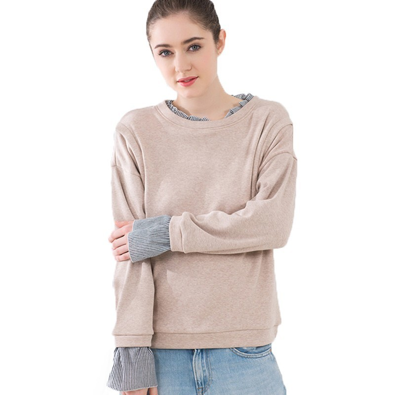 2018 Autumn Hoodies Casual Layere Maternity Clothing Pullovers Fleeced Long Sleeve Breastfeeding Hoody For Pregnant Women Tops