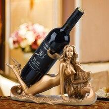 Estante del vino del estante del vino del estante del vino Europeo restaurante bar personalidad decoración del hogar decoración moderna minimalista